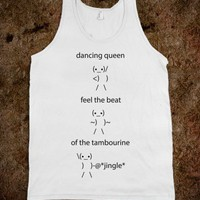 Feel The Beat Tank - Random Fun - Skreened T-shirts, Organic Shirts, Hoodies, Kids Tees, Baby One-Pieces and Tote Bags