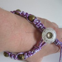 purple shimmer bracelet by handmadefuzzy on Zibbet