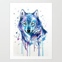 """Ice"" Art Print by PeeGeeArts"