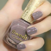 [5490] Grey Sweet Color 12 ml Nail Polish