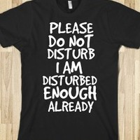 Please Do Not Disturb I Am Disturbed Enough