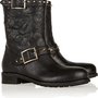 Jimmy Choo|Dash studded leather biker boots|NET-A-PORTER.COM