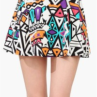 Ruben Tribal Skirt - Taupe