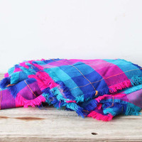 Neon Pink Picnic Blanket with Matching Napkins