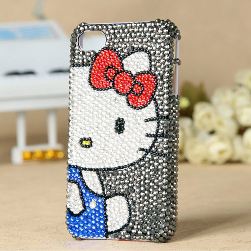 Apple iPhone 4S 4G 3GS Ipod Touch Japanese Hello Kitty Girly Crystal Unique Best Case - GULLEITRUSTMART.COM