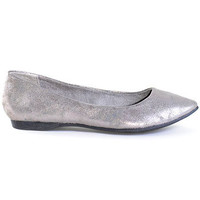 Pewter Patina Ballet Flats