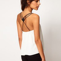 ASOS Cami With Contrast Strappy Back at asos.com