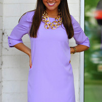 RESTOCK EVERLY: Conservative & Cute Dress: Purple | Hope's