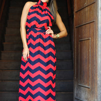 Gotta Be From Georgia Maxi: Red/Black | Hope's