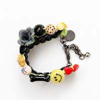 Venessa Arizaga Love Shack Bracelet - Black/Neon Yellow