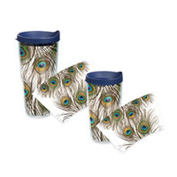 Tervis® Peacock Feathers Wrap Tumblers with Blue Lid