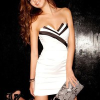 Black and White Level Dress