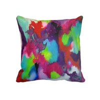 Color Abstraction Throw Pillow from Zazzle.com