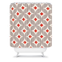 DENY Designs Home Accessories | Holli Zollinger Vermillion Diamond Shower Curtain