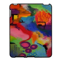 Abstract Color City iPad Case from Zazzle.com