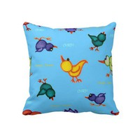 Whimsical World of Woobies Nursery Bird Pillow from Zazzle.com