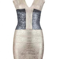 Bqueen Deep V-neck Halter Bandage Dress H439