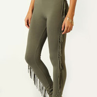Rhian Side Tassle Leggings