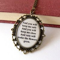 Les Miserables necklace Quote jewelry Eponine A Little by amoronia