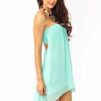 open-back-strapless-dress IVORY NEONPINK SEAFOAM - GoJane.com
