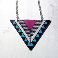 Geometric necklace  Free shipping Chevron necklace by MakeUnique