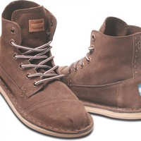 Brown Suede Women&#x27;s Tomboy Boot