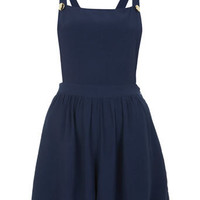 Navy Bib 'n' Brace Playsuit
