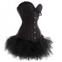 A3367 - Black sweetheart corset and tutu
