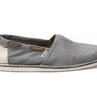 Grey Denim Bimini Men&#x27;s Stitchouts | TOMS.com