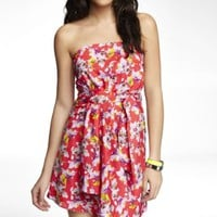 PRINTED PLEATED TUBE DRESS