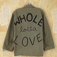 Free People  Vintage-Hand-Painted Military Jacket at Free People Clothing Boutique