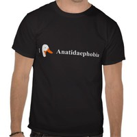 I Love Anatidaephobia t-shirt. from Zazzle.com