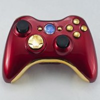 Amazon.com: Iron Man (Chrome Red/Gold) Xbox 360 Modded Controller (Rapid Fire) COD Black Ops, MW2, MW3, MOD Gamepad LEDs: Video Games