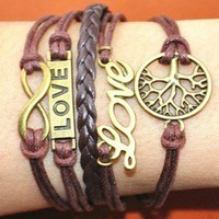 tree love multilayer bracelet