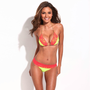 Solid Yellow + Red Lace Triangle Bikini Set