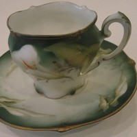 Adorable RS Prussia Germany Porcelain Demitasse Cup and Saucer