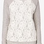 Lace Overlay Pullover