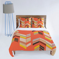DENY Designs Home Accessories | Gabi Chevron Coral Duvet Cover