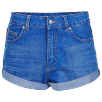 MOTO High Waisted Denim Shorts - View All - New In This Week - New In - Topshop
