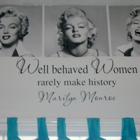 Marilyn Monroe quote removable wall vinyl Well by daydreamerdesign