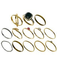 ASOS Vintage Finger Tip Ring Pack at asos.com