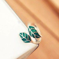 Fashion Cute Small Leaf Ring