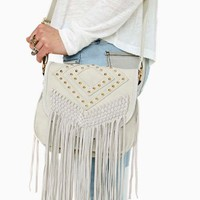Cheyenne Fringe Bag - Bone