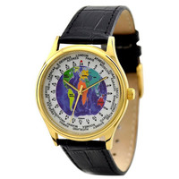 World Time Watch (Gold / Map)