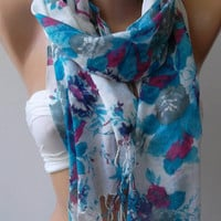 Cotton Scarf  Elegant Scarf  Soft and light