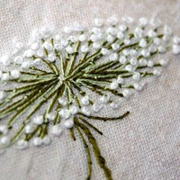 Queen Annes Lace Hand Embroidery Home Decor by Waterrose on Etsy