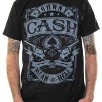 Johnny Cash, T-Shirt, Mean As Hell