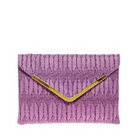 ASOS | ASOS Weave Metal Bar Clutch at ASOS