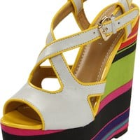Nine West Women's Boushie Wedge Sandal: Amazon.com: Shoes