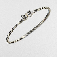 David Yurman - 18K Gold Accented Petite Ribbon Bangle